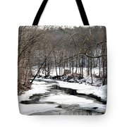 Winter Stream Tote Bag