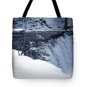 Winter Waterfall Snow Tote Bag