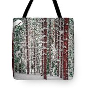 Winters Forest Tote Bag