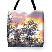Wintry Sunset Tote Bag by Will Borden