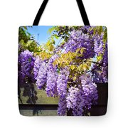 Wisteria Garden 8 Tote Bag