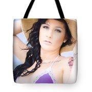 Woman At The Beach Tote Bag