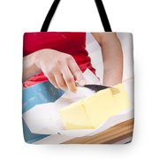 Woman Cooking Tote Bag