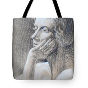 Woman Head Study Tote Bag