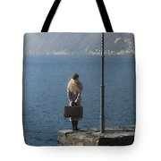 Woman On Jetty Tote Bag