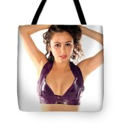 Woman Posing Tote Bag