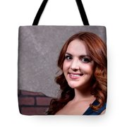 Woman Red Hair Tote Bag