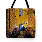 Women At Rumi's Mausoleum In Konya-turkey  Tote Bag
