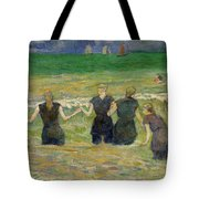 Women Bathing Tote Bag