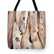 Wood Abstract Tote Bag