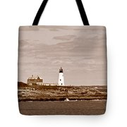 Wood Island Lighthouse Tote Bag