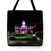 Woodburn Hall At Night Tote Bag