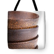 Wooden Bowls Isolated Tote Bag