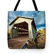 Wooden Covered Bridge  Tote Bag