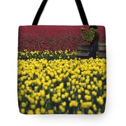 Worker Carrying Tulips Tote Bag