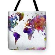 World Map In Watercolor  Tote Bag
