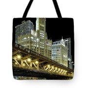 Wrigley Building At Night Tote Bag