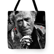 Writer Charles Bukowski On Tv Show Apostrophes In September 1978-2013 Tote Bag
