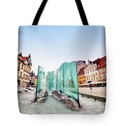 Wroclaw Poland The Market Square With The Famous Fountain Tote Bag