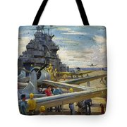 Wwii: Aircraft Carrier Tote Bag