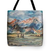 Wyoming Sunrise Tote Bag by Jean Ann Curry Hess