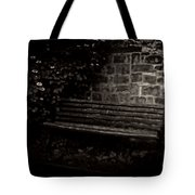 Ye Olde Bench In Bakewell Town Peak District - England Tote Bag