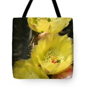 Yellow Cactus Tote Bag