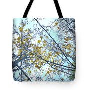 Yellow Leaves Vintage Tote Bag