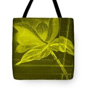 Yellow Negative Wood Flower Tote Bag