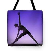 Yoga Triangle Pose Tote Bag