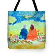 Yogananda And Swami Kriyananda Tote Bag