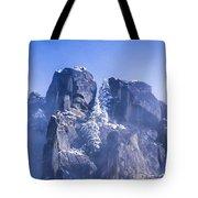 Yosemite Stone And Snow Tote Bag