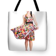 Young Beautiful Dancer Posing On White Background Tote Bag