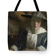 Young Girl With A Flute Tote Bag