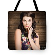 Young Girl With Perfect Skin Tote Bag