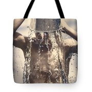 Young Man Having Fun On A Tropical Summer Holiday Tote Bag