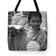 Young Monks Bw Tote Bag