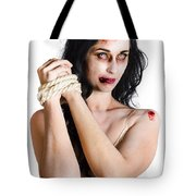 Zombie Tied Up Tote Bag