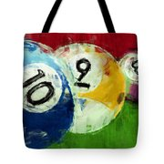 10 9 8 Billiards Abstract Tote Bag