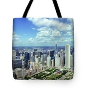 Aerial View Of A City, Chicago, Cook Tote Bag
