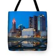 Fx2l-516 Columbus Ohio Night Skyline Photo Tote Bag