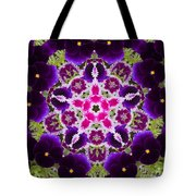 Flower Kaleidoscope Resembling A Mandala Tote Bag