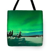 Intense Display Of Northern Lights Aurora Borealis Tote Bag