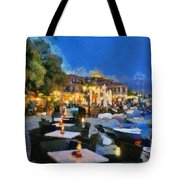 Molyvos Town In Lesvos Island Tote Bag