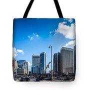 Skyline Of Uptown Charlotte North Carolina Tote Bag by Alex Grichenko