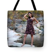 Young Hispanic Woman Tote Bag