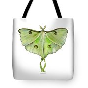 100 Luna Moth Tote Bag by Amy Kirkpatrick