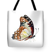 102 Perched White Lady Butterfly Tote Bag by Amy Kirkpatrick
