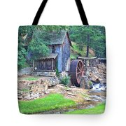 Sixes Mill On Dukes Creek - Square Tote Bag