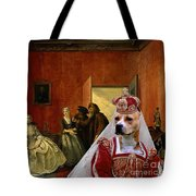 American Staffordshire Terrier Art Canvas Print Tote Bag